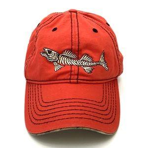 Bonefish Orange/Camo Baseball Style Hat